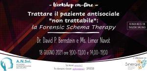 """Workshop online - Trattare il paziente antisociale """"non trattabile"""": la Forensic Schema Therapy"""